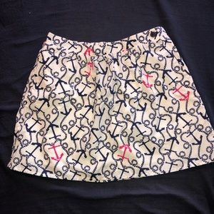 EUC Lilly Pulitzer Ahoy There Small skirt